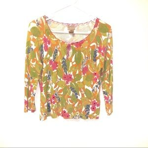 3 for $25 Sigrid Olsen Sport Petite Floral Sweater